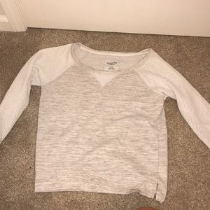 sweater white and gray